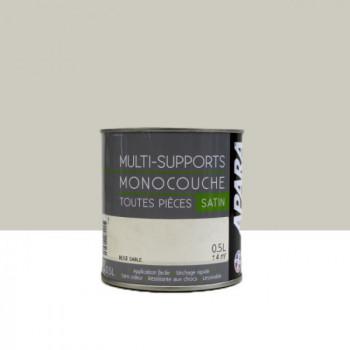 Peinture Apara multi-supports  Murs, plafonds, boiseries, plinthes...  beige sable satin 0,5L