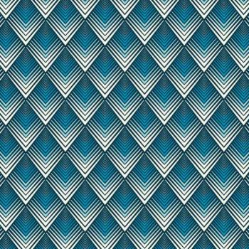 Tissu 100% coton bleu à motifs