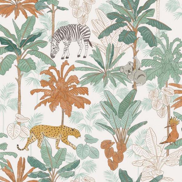 Toile cirée imprimée à motif jungle