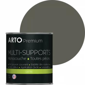 Peinture arto premium multi-supports murs, plafonds, boiseries, plinthes et radiateurs gris souris satin 0,5 L
