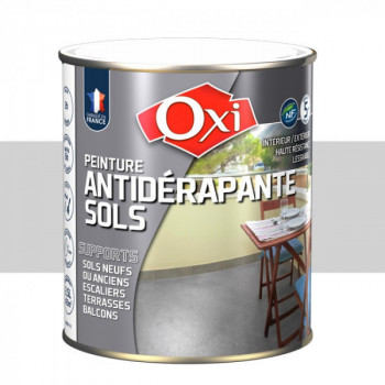 Peinture gris clair anti-dérapante sols OXITOL 2.5L