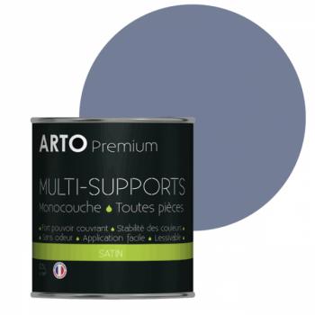 Peinture arto premium multi-supports murs, plafonds, boiseries, plinthes et radiateurs bleu fiord satin 0,5 L