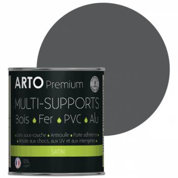 Peinture Arto Premium multi-supports anthracite satin 0,5L