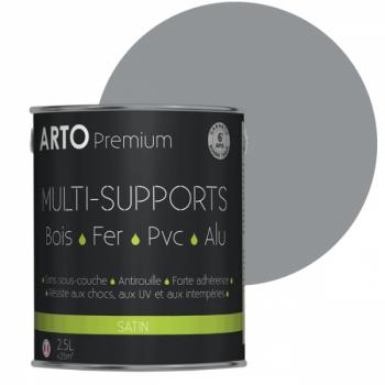Peinture Arto Premium multi-supports gris trafic satin 2,5L