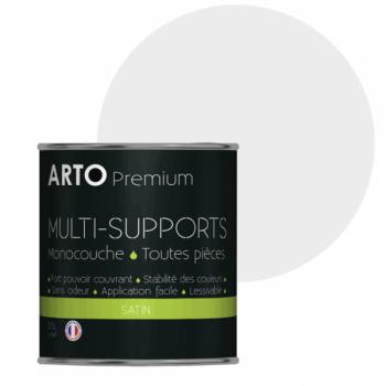 Peinture arto premium multi-supports murs, plafonds, boiseries, plinthes et radiateurs pervenche satin 0,5 L