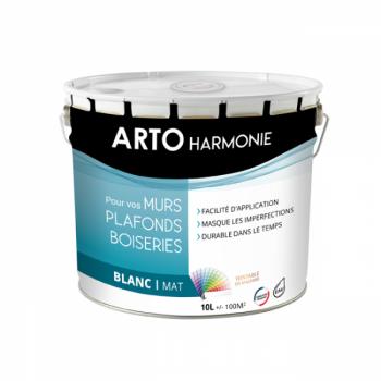 Peinture Arto Harmonie Murs, plafonds et boiserie intérieur blanc mat 10L