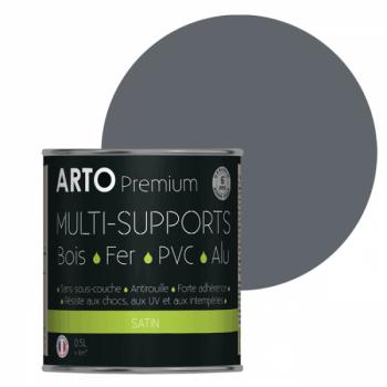 Peinture Arto Premium multi-supports gris bleu satin 0,5L