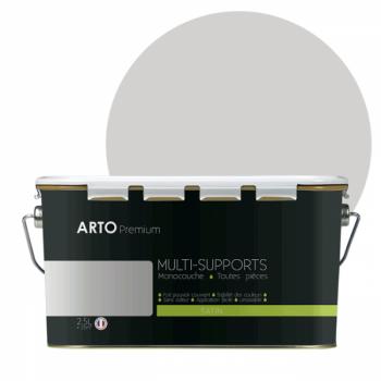Peinture arto premium multi - supports murs, plafonds, boiseries, plinthes et radiateurs lin satin  2,5 L