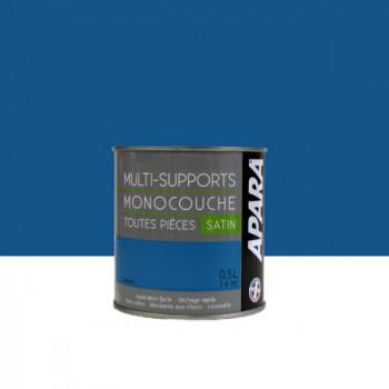 Peinture Apara multi-supports  Murs, plafonds, boiseries, plinthes...  bleu pacific satin 0,5L