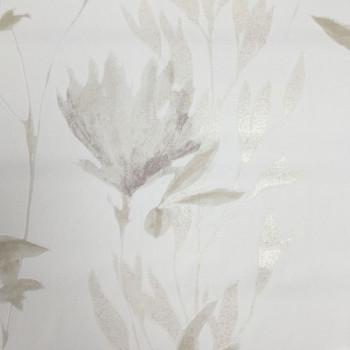 Papier peint intissé fleur narurelle beige