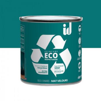 Peinture Eco responsable bleu canard mat 0,5L