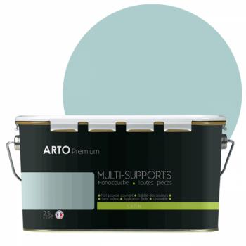 Peinture arto premium multi - supports murs, plafonds, boiseries, plinthes et radiateurs vert voyage satin 2,5 L