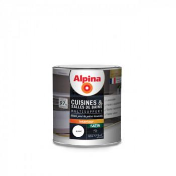 Peinture alpina cuisine & salle de bain blanc satin 0,5L
