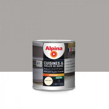 Peinture alpina cuisine & salle de bain blanc cassé satin 0,5L