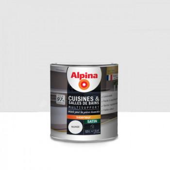 Peinture alpina cuisine & salle de bain gris nuage satin 0,5L