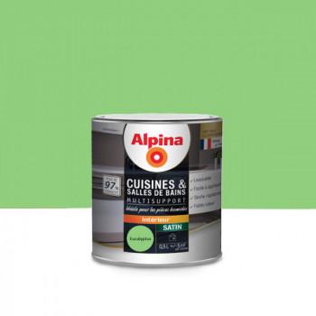 Peinture alpina cuisine & salle de bain eucalyptus satin 0,5L