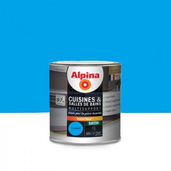 Peinture alpina cuisine & salle de bain cyclades satin 0,5L