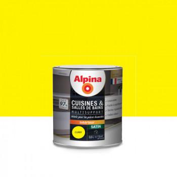 Peinture alpina cuisine & salle de bain curry satin 0,5L