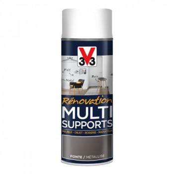 Aérosol V33 multi-supports fonte métallisé satin 400 ML