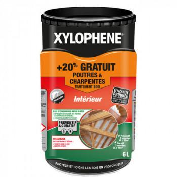 Peinture Xylophene poutre et charpente traitement spécial bois incolore 5 L + 20% gratuit