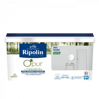 Peinture ripolin opur multi-supports gris souris satin 2L