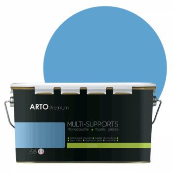 Peinture arto premium multi - supports murs, plafonds, boiseries, plinthes et radiateurs atoll  satin 2,5 L