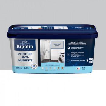 Peinture Ripolin solution anti-humidité gris lome satin 2,5L