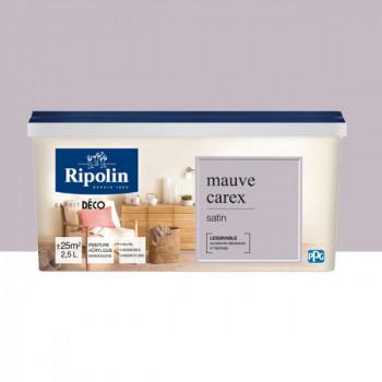 Peinture Ripolin Esprit Déco Murs, plafonds, boiseries et radiateurs mauve carex satin 2,5L