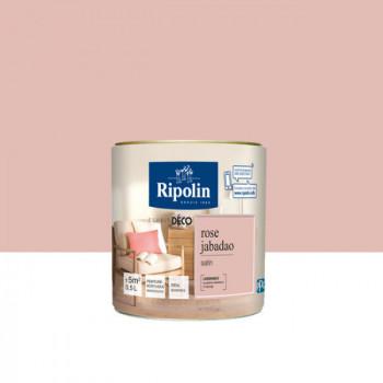 Peinture Ripolin Esprit Déco Murs, plafonds, boiseries et radiateurs rose jabadao satin 0,5L