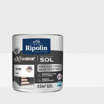 Peinture Ripolin extreme sol blanc satin 0,5 L