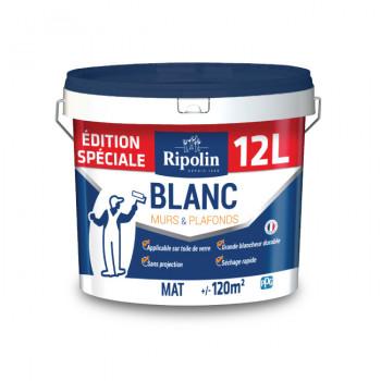 Edition spéciale : Peinture RIPOLIN blanc mat 12 L