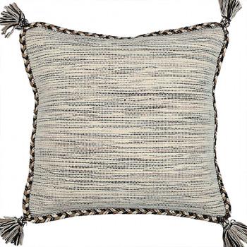 Coussin carré effet chiné blanc et gris 45x45 cm