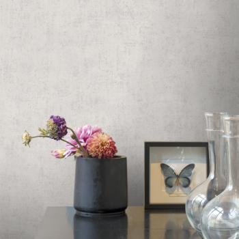 Papier peint intissé béton mat gris clair