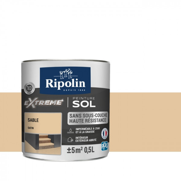 Peinture Ripolin extreme sol sable...