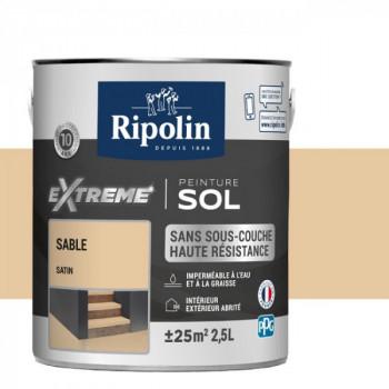 Peinture Ripolin extreme sol sable satin 2,5 L