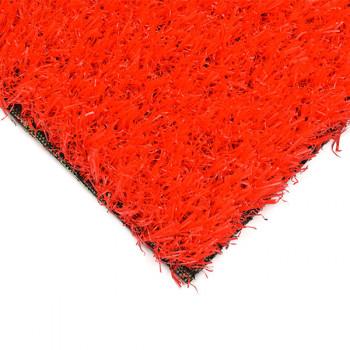 Gazon synthétique rouge 26 mm en 4 mètres
