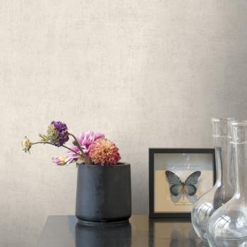 Papier peint intissé béton mat gris beige