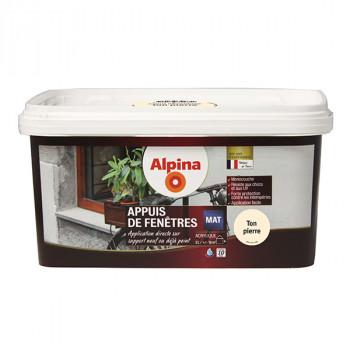 Peinture Alpina spécial appuis de fenêtres pierre satin 2L