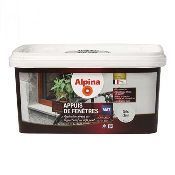 Peinture Alpina spécial appuis de fenêtres gris clair satin 0,75L
