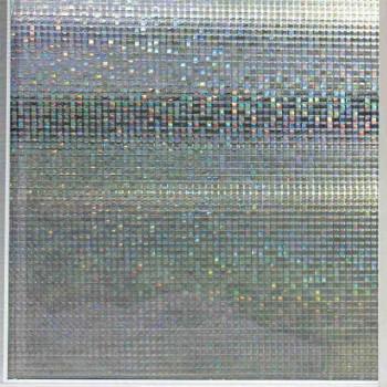 Film repositionnable carrés holographiques gris 45 cm