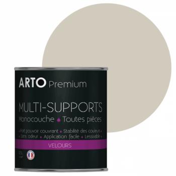 Peinture arto premium multi - supports murs, plafonds, boiseries, plinthes et radiateurs blanc sable velours 0,5 L