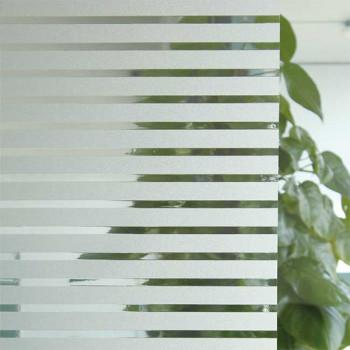 Film repositionnable motif rayure blanc 45 cm