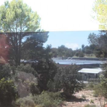 Film repositionnable effet miroir noir 45 cm