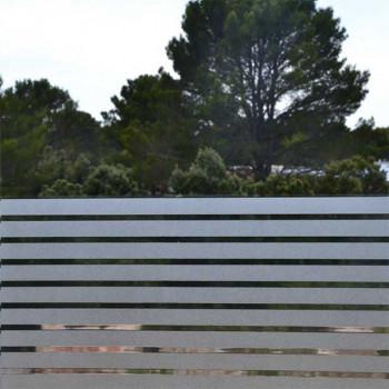 Film repositionnable motif rayure blanc 90 cm