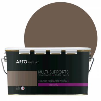 Peinture arto premium multi - supports murs, plafonds, boiseries, plinthes et radiateurs bleu cèdre velours 2,5 L