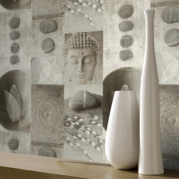 Papier peint salle de bain bouddha
