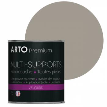 Peinture arto premium multi - supports murs, plafonds, boiseries, plinthes et radiateurs loft velours 0,5 L