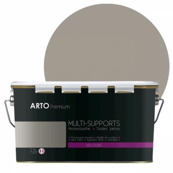 Peinture arto premium multi - supports murs, plafonds, boiseries, plinthes et radiateurs gris loft velours 2,5 L