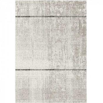 Tapis gris à bandes 120 x 170 cm