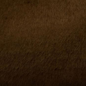 Tissu imitation fourrure marron 140 cm